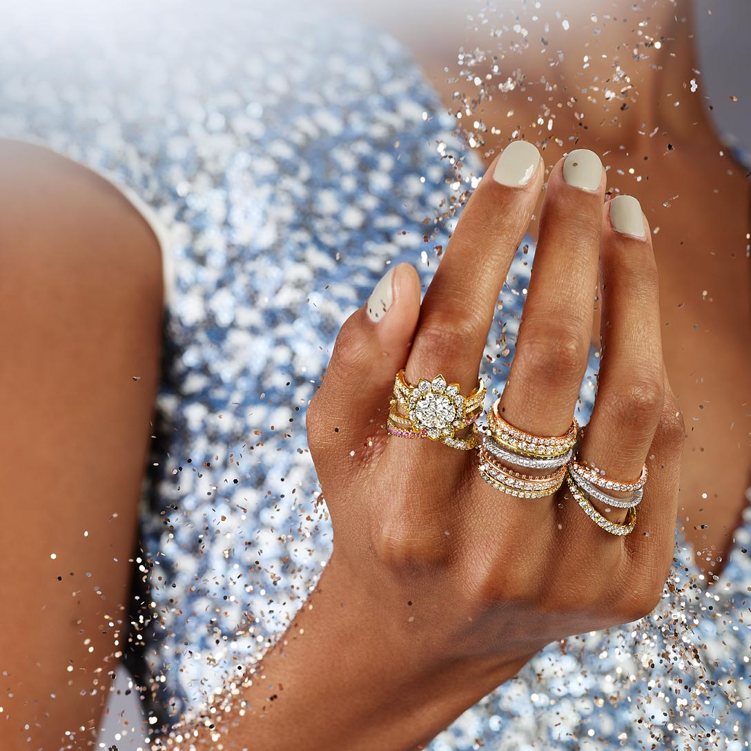 Hayley Paige for Hearts On Fire diamond rings