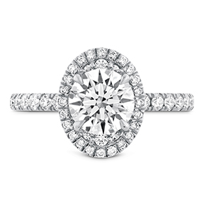 Juliette Oval Halo Diamond Engagement Ring