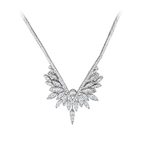 White Kites Crest Drop Necklace