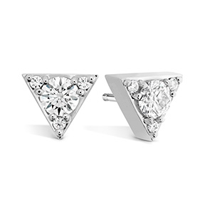 Triplicity Triangle Stud Earrings